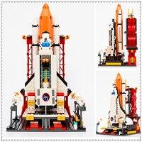 679 Adet Uzay Mekiği Fırlatma Merkezi Modeli Bina Blok Oyuncaklar Uyumlu Çocuklar Için Legoe GUDI 8815 Eğitici Rakam Hediye
