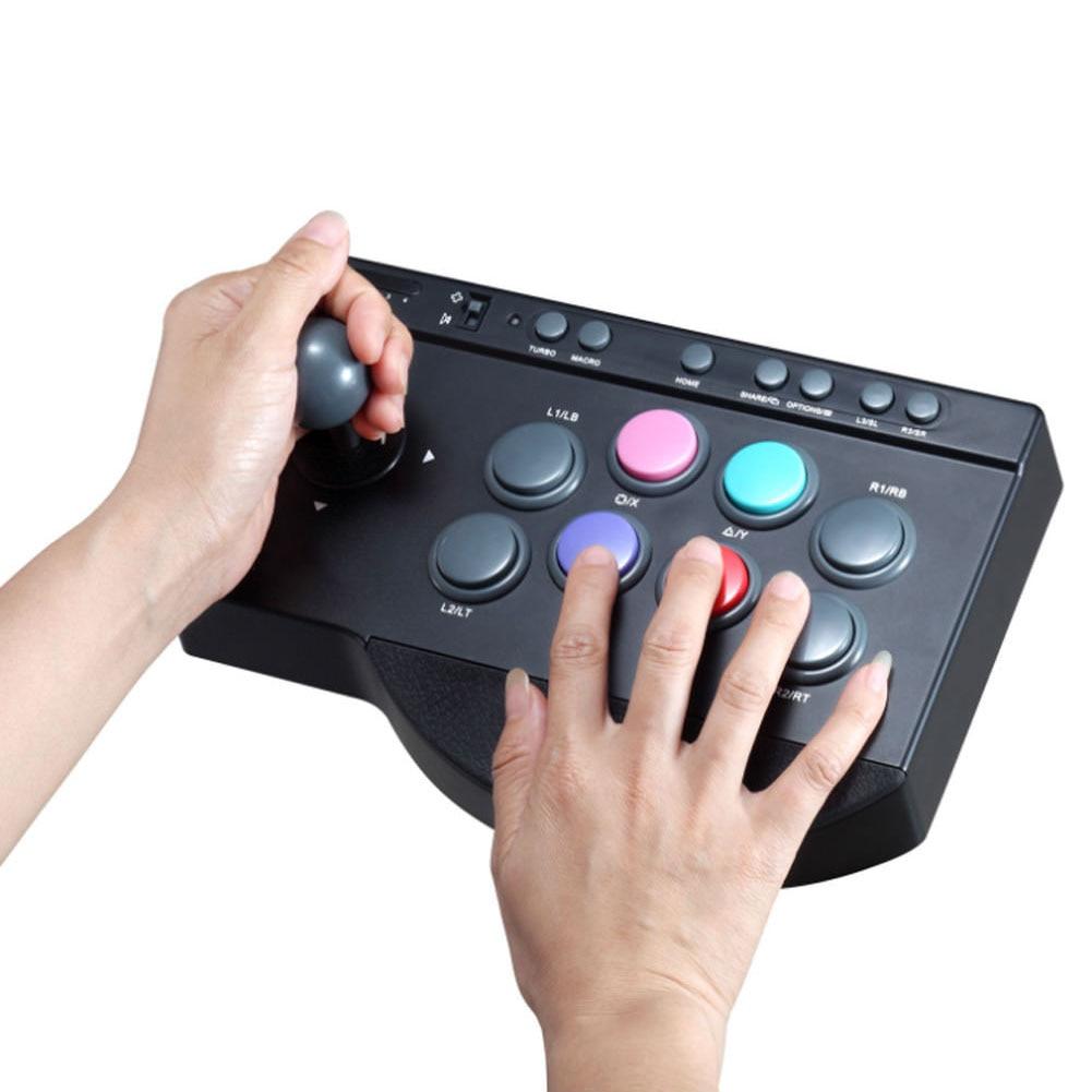 Manette Durable pratique ABS pour Arcade bâton de combat contrôleur de jeu bouton multifonction USB filaire pour PS3/4 pour XBOX ONE
