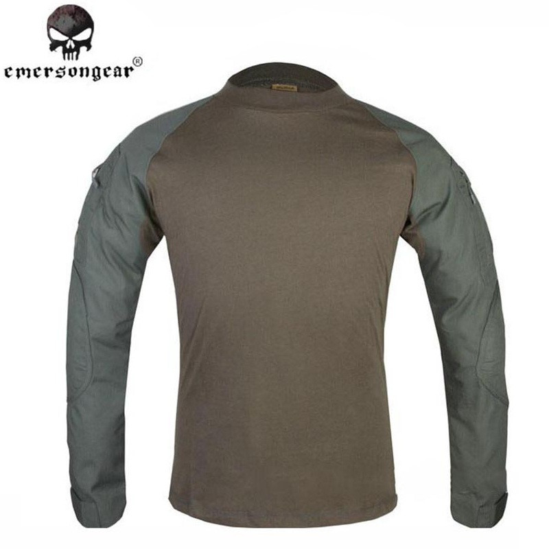 Emerson Round Collar Long Sleeve Combat Shirts Airsoft Military Tactical T-shirts BDU Suit Paintball Hunting Sports Clothing emersongear g3 combat t shirt military bdu army airsoft tactical gear paintball hunting shirt em8586 typhon emerson