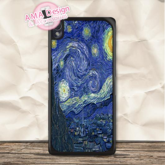Doctor Who Starry Night Van Gogh Case For Sony Xperia Z5 Z4 Z3 compact Z2 Z1 Z C3 C T3 T2 E4 SP M4 M2