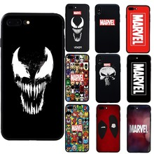 Comic Skull Venom Marvels Soft Case For iPhone X XS Max XR 7 8 Plus Phone Cover For iphone 5s SE 6 6s Plus Case funda coque(China)