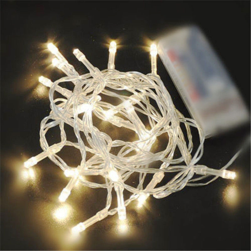 AA Battery Mini 10/20/30/40 LEDs Warm Wit Christmas String Fairy - Vakantie verlichting - Foto 1