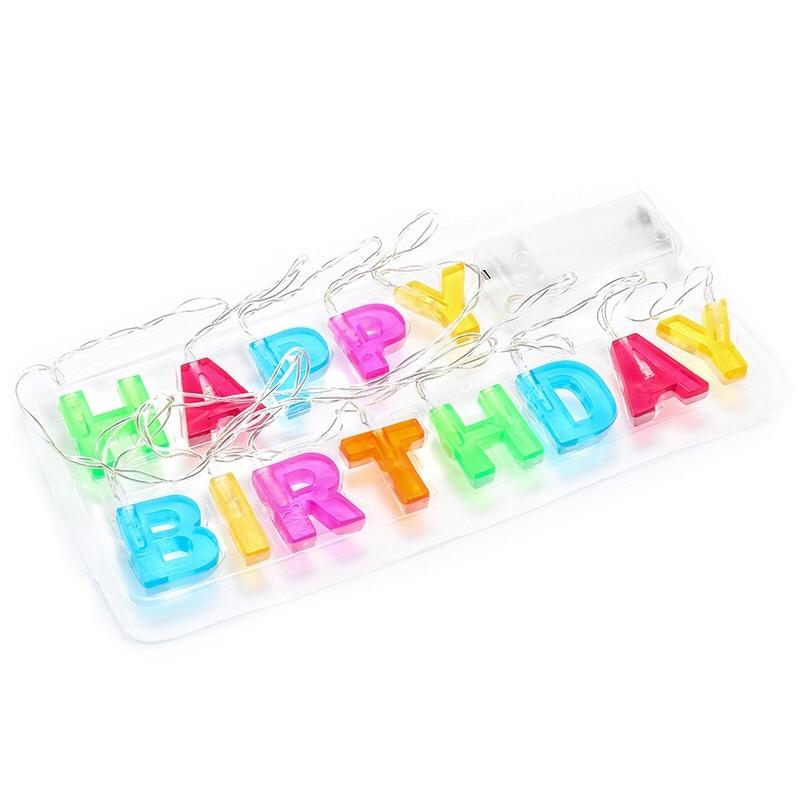 Doğum gününüz mübarək LED rəngli işıqlar bəzək simi - Bayram işıqlandırılması