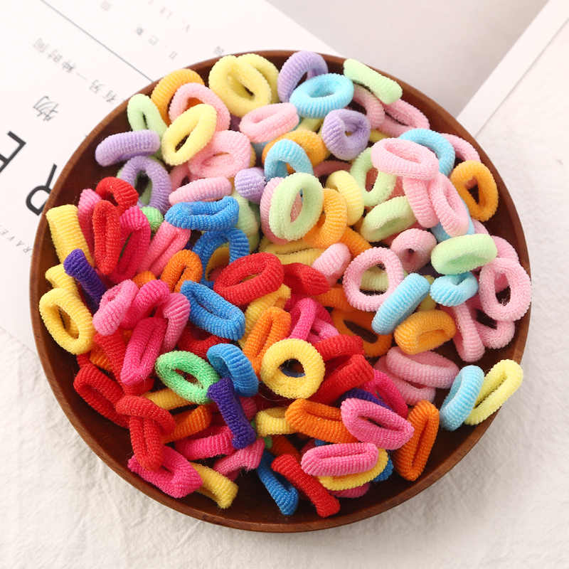 About 80pcs/bag Good Quality Baby Child Hair Holders Rubber Bands Small Elastics Girl's Tie Gum Hair Accessories
