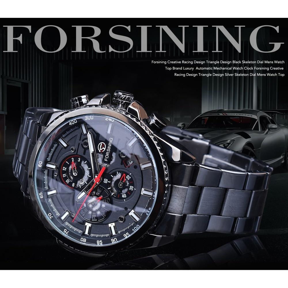שעון מכני פלדת אל חלד Forsining 2