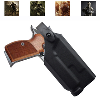 Gun Accessories Tactical Colt 1911 Belt Holster With Flashlight Right Hand Holster Hunting Airsoft Gun Holster