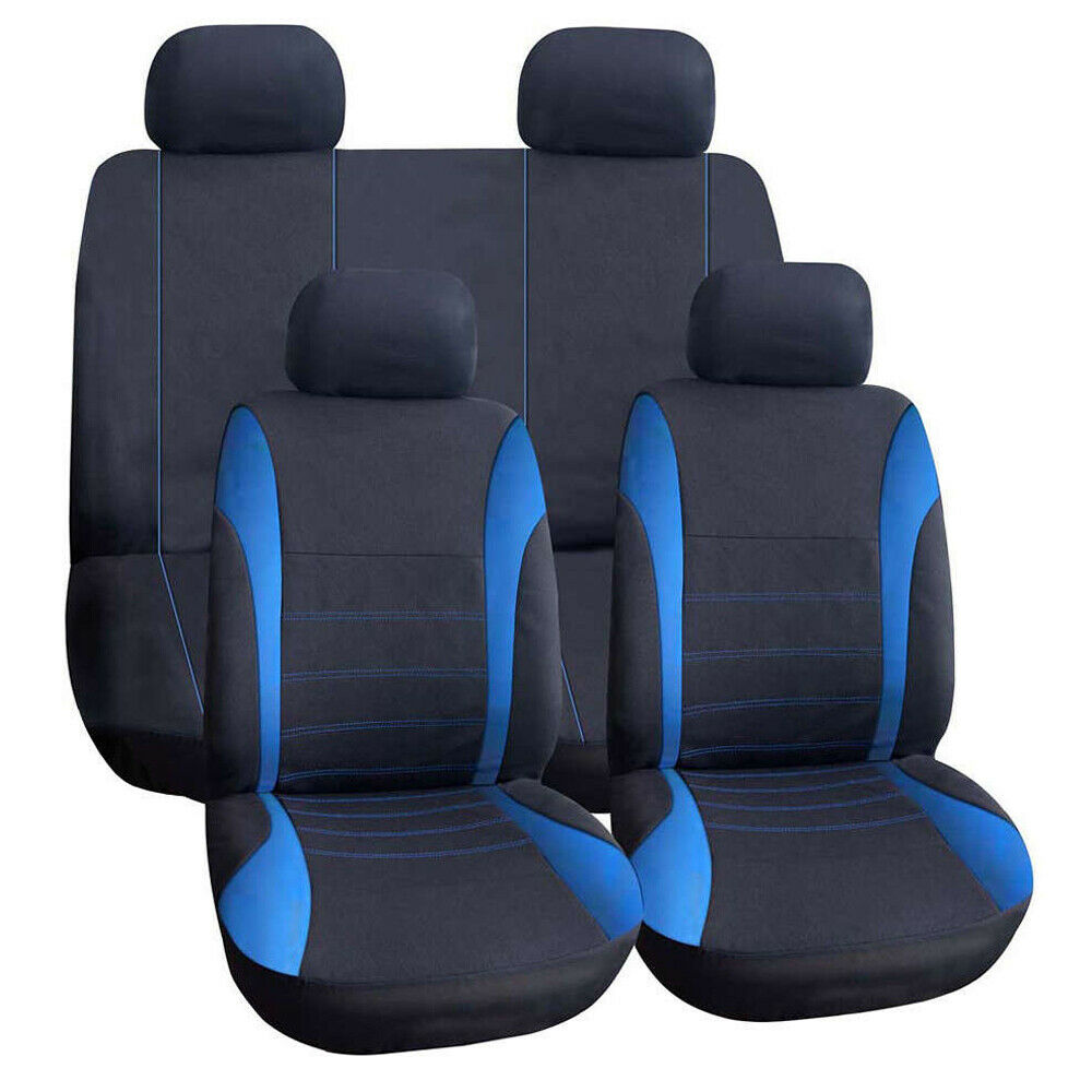 9pcs Universal Car Seat Covers Front Rear Head Rests Full Set Auto Seat Cover