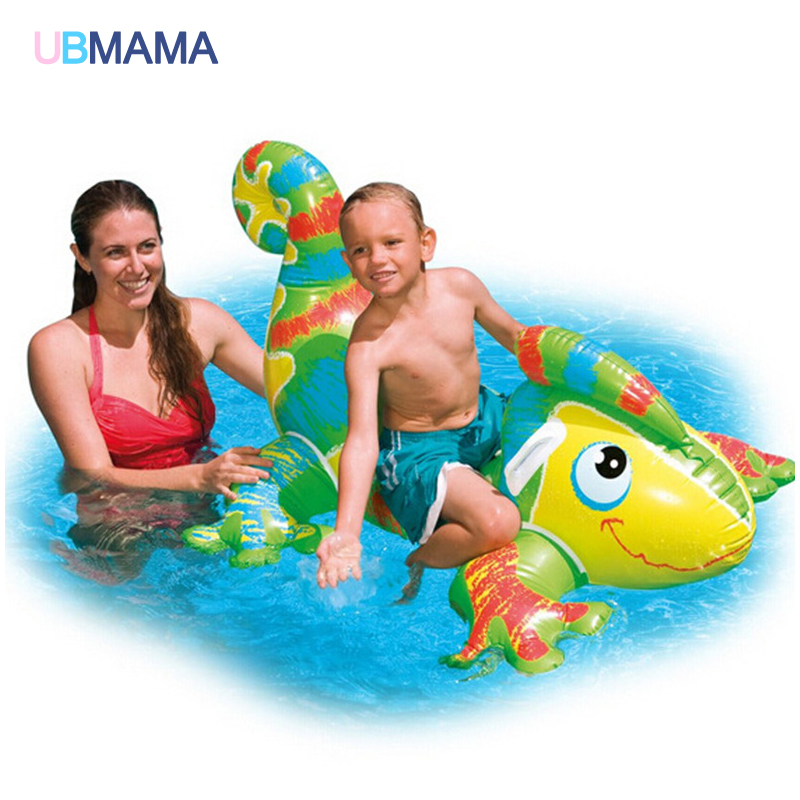 Chameleon Type Children Water Floating Seat Inflatable Float Thick Swimming Cushion Kids Toy PVC Material