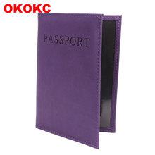 OKOKC angielski alfabet Solid Passport okładka PU wysokiej jakości paszport pakiet podróży paszport posiadacz Akcesoria podróżne tanie tanio Stałe 10 2 cm od 14 3 cm W OKOKC Pokrowce na paszport Masz Q0044