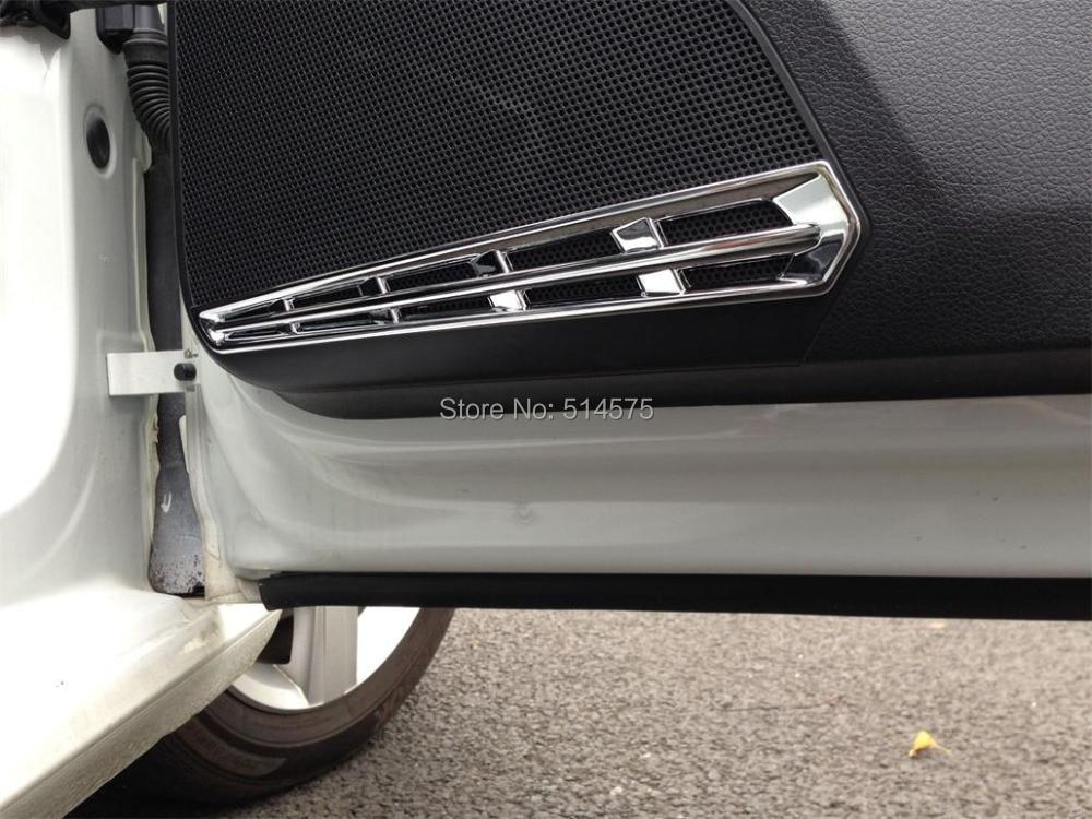 ABS Chrome door speaker decorative frame cover trim 4pcs For VW Golf 7 Mk7 2014