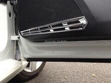 ABS Chrome дверь спикер декоративная рамка обложка отделка 4 шт. Для VW Golf 7 Mk7 2014