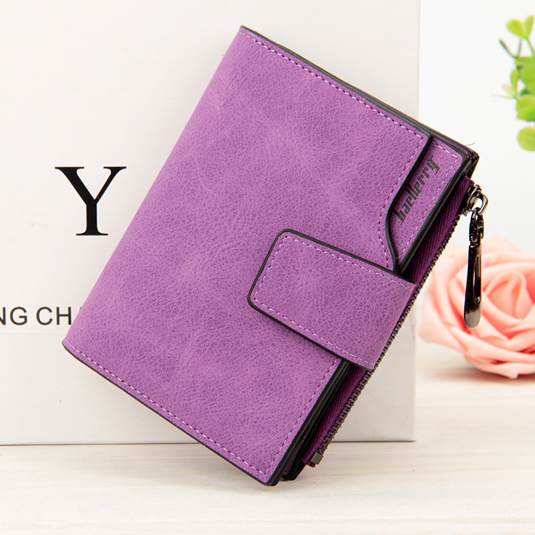 Hot Brand Women Wallet Vintage Fashion Top Quality Short Wallet PU Leather Purse Female Money Case Small Zipper Coin Pocket
