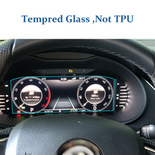 For Skoda Octavia A7 fl 2019 tempered glass screen protector car dashboard dash panel cover pad speed display protective film mp377 15 6av6644 0ab01 2ax0 protective film touch screen panel glass