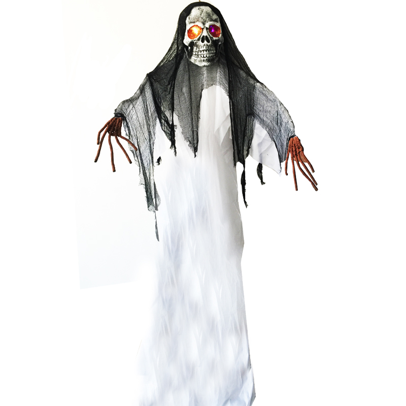 10 Feet 3 Meter Giant Spooky Hanging Ghost With Light Up