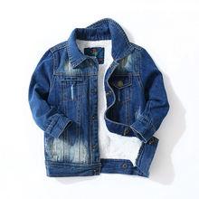 d47adc386 Toddler Boys Jacket Winter 2018 Kids Clothes Children Long Sleeve Velvet  Warm Coats Baby Jaqueta Jeans Infantil Casacas Menino