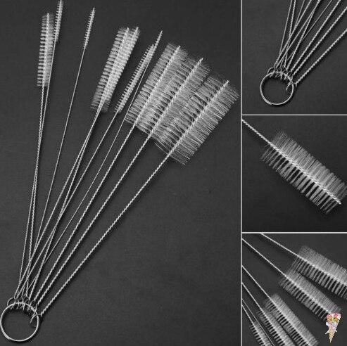 10PCS/set Multi-Functional Tools Nylon Test Tube Brush Spray Brush Pots Bottle Liquor Cleaning Tools Brush Wholesale