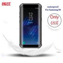 IP68 À Prova D Água à prova de choque casos de cobertura Para Samsung Galaxy caso para Samsung Galáxia S8 S8 Mais S8 + caso com impressão digital