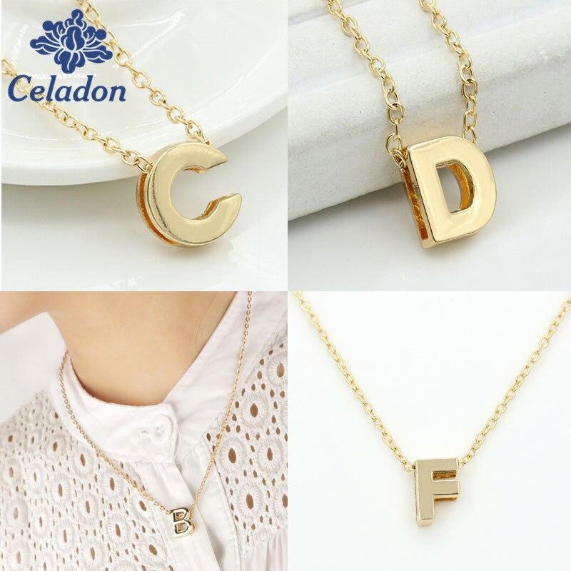 Us 094 15 Offa R Awal Alphabet Kecil Emas Kalung Emas Surat Nama Kalung Inisial Kalung Pendant Untuk Wanita Gadis Terbaik Hadiah Ulang Tahun In