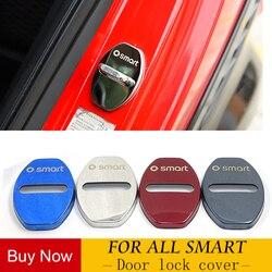 Drzwi ze stali nierdzewnej pokrywa zamka do 08 14 Smart 451 fortwo forfour dekoracyjne osłona antykorozyjna samochodu akcesoria do modyfikacji w Naklejki samochodowe od Samochody i motocykle na