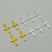 Buy cross pendants for jewelry making and get free shipping on 50pcs cross charm silver vintage small pendants for diy aloadofball Choice Image