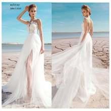 Кружевной топ дешевое свадебное платье 2020 с Боковым Разрезом