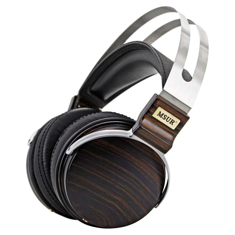 100% D'origine Haut De Gamme MSUR N650 HiFi En Bois En Métal Casque Écouteur Avec Alliage De Béryllium Conducteur Portein Cuir T60