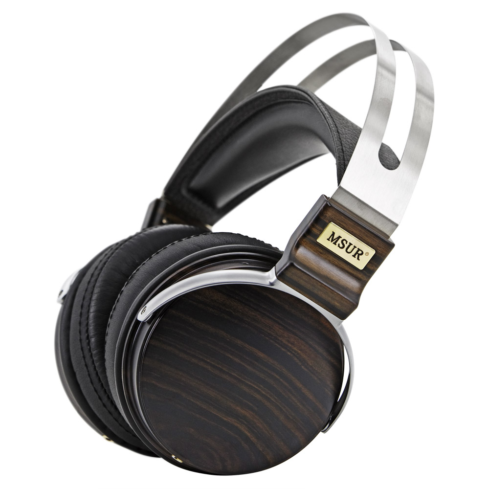 100% Original High End MSUR N650 HiFi Wooden Metal Headphone Headset Earphone With Beryllium Alloy Driver Portein Leather T60 new original msur n650 wooden metal hifi music dj headphone headset earphone with beryllium alloy driver portein leather