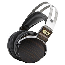 100 Original High End MSUR N650 HiFi Wooden font b Metal b font Headphone Headset Earphone