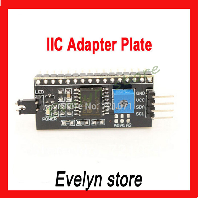 IIC/I2C / Interface LCD1602 2004 LCD Adapter Plate for Arduino Free Shipping Dropshipping