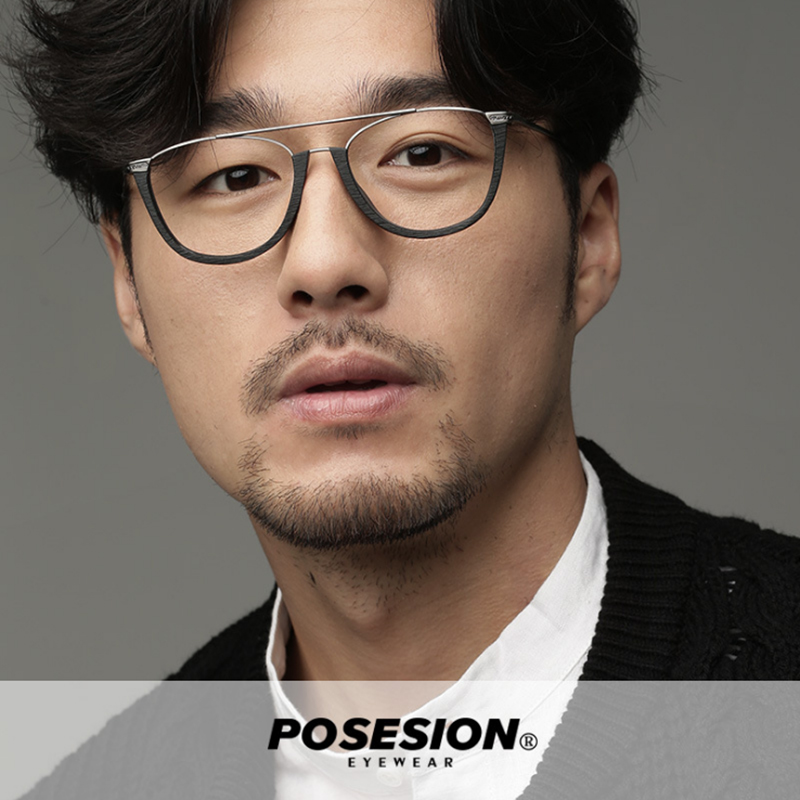 POSESION Eyeglasses Half Frame Men Women Eyewear Optical Retro Oval Acetate Glasses Spectacle Frame For Male Female Clear Lens in Men 39 s Eyewear Frames from Apparel Accessories