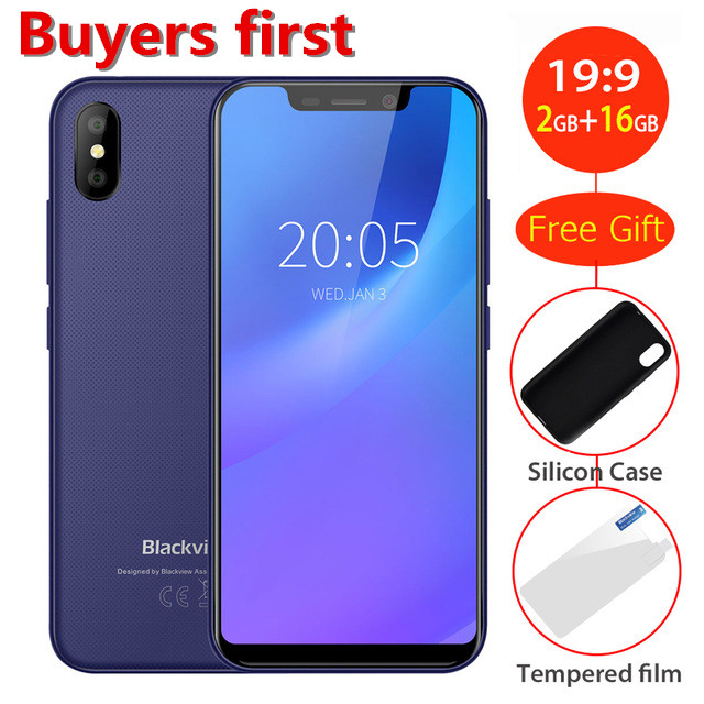 BLACKVIEW A30 smartphone Android 8.1 MTK6580 Quad core 19:9 5.5FHD RAM 2GB ROM 16GB 8.0MP mobile phone 3G Face ID cellphoneBLACKVIEW A30 smartphone Android 8.1 MTK6580 Quad core 19:9 5.5FHD RAM 2GB ROM 16GB 8.0MP mobile phone 3G Face ID cellphone