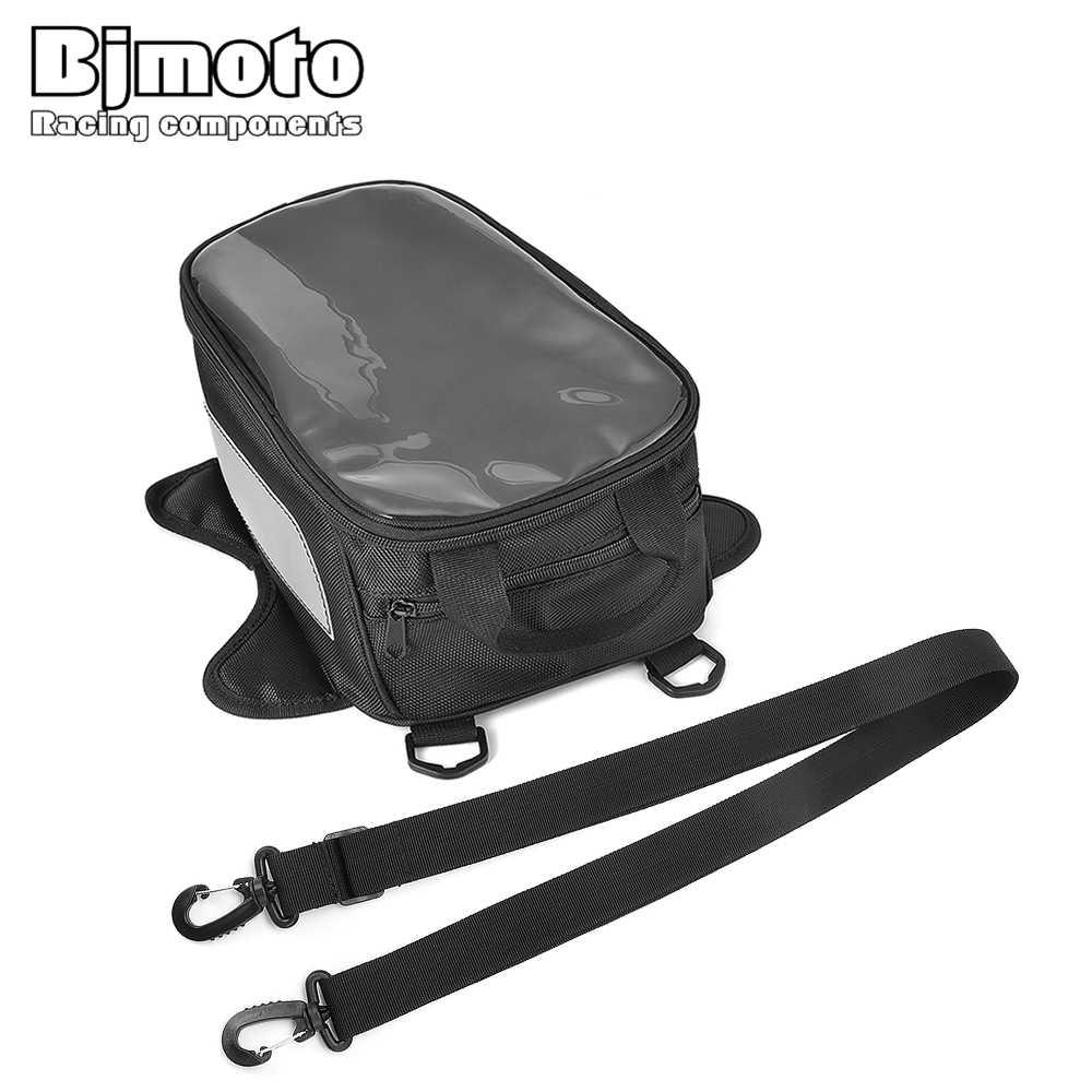 BJMOTO moto sac de réservoir moto huile réservoir de carburant sacs vélo sacoche grand écran pour téléphone/GPS