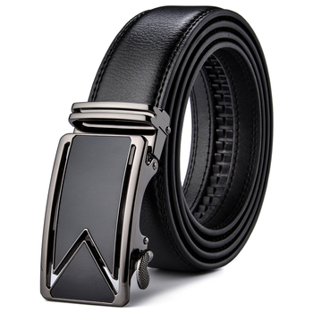 Plyesxale Men Belt 2018 Cowhide Genuine Leather Belts For Men Luxury Automatic Buckle Belts Brown Black Cinturones Hombre B55 1