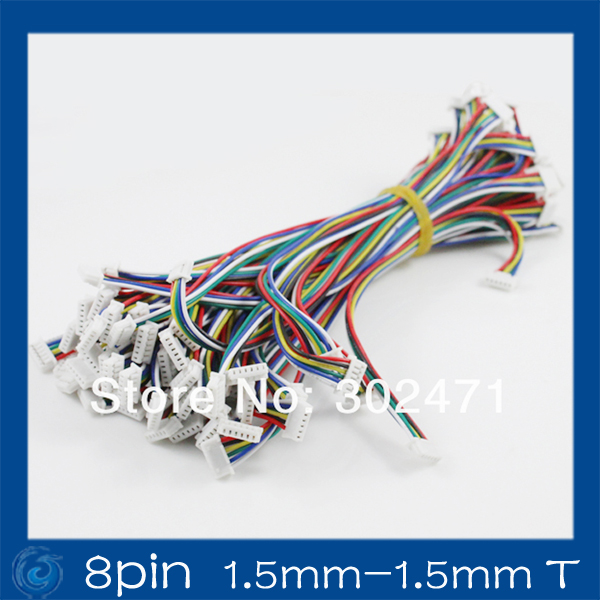 Mini. Micro 1.5mm T-1 8-Pin Connector W/.Wire X 10 Sets.8pin (1.5mm-1.5MM)T