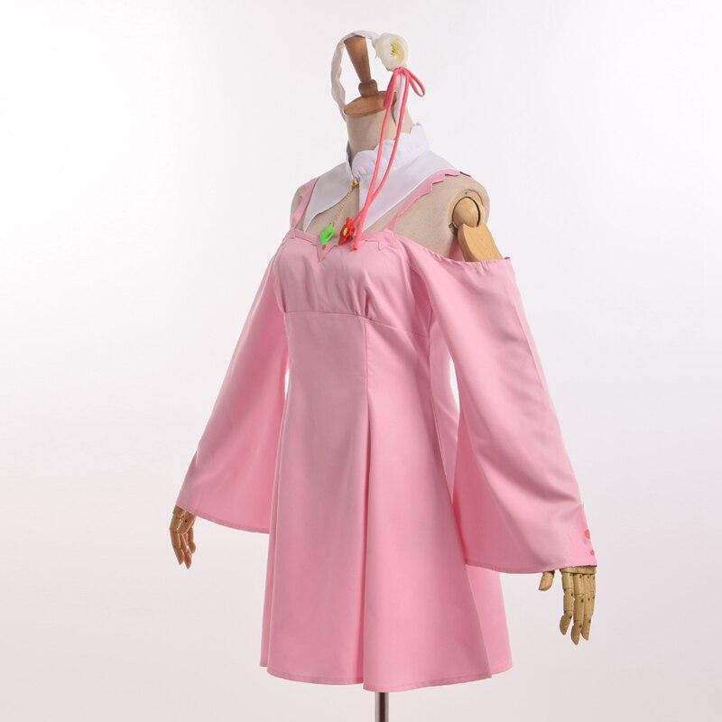 ✓Emilia Cosplay vestido rosa anime re: Zero Kara hajimeru isekai ...