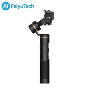 Image 2 - FeiyuTech G6 Splashproof Handheld Gimbal Feiyu Action Camera Wifi + Bluetooth OLED Screen for Gopro Hero 8 7 6 5 RX0 Yi 4k