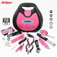 Hi Spec Pink 72pc Hand Tool Set Girl Lady Women DIY Household Tool Set Repair Tools & Kits Toolbox Screwdriver Torque Wrench