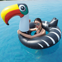 135cm Giant Toucan Inflatable Tube Swimming Ring 2019 Newst Pool Float Summer Party Water Toys Floating Raft Air Mattress boia 110cm inflatable angel wings giant pool float toy water float inflatable mattress swimming ring tube raft beach sea party flamin