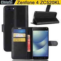 10 Pcs Lot Wallet PU Leather Case Cover For Asus Zenfone 4 MAX ZC520KL Flip Protective
