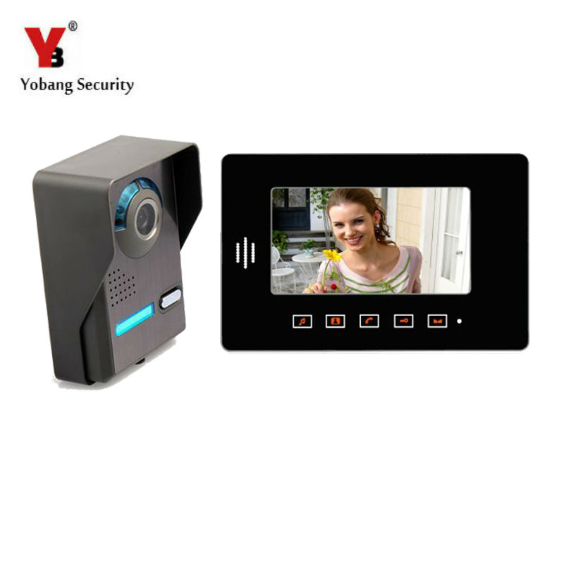 Yobang Security Touch Key 7 Wired Video Door Entry Phone Call System Visual Intercom Doorbell Night Vision Outdoor IR Doorphone 2 families apartments cheap non visual doorbell audio lntercom doorbell house door entry intercom system