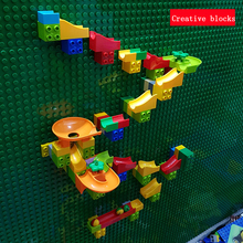 Creative Building Blocks Set Wall DIY Marble Race Run Construction Toy Compatible Brick Educational Toys for Kids стоимость