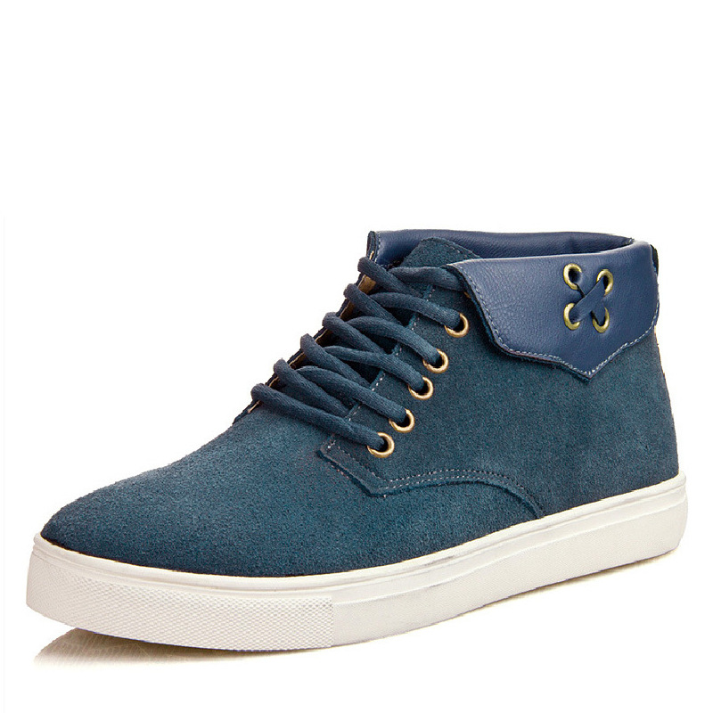 ФОТО 2016 New England tie Metrosexual leisure high shoes leather men's shoes wholesale and explosion of wool and cotton shoes