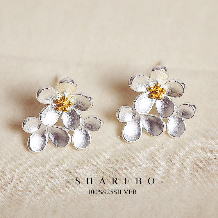 sterling com studs gold kellinsilver daisy earrings posts silver stud