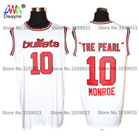 1973 Cheap Baltimore Mens Earl Monroe 10 The Pearl Jersey Vintage Throwback Basketball Jersey Free Shipping