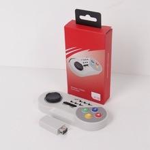 MASiKEN Wireless Gamapad TURBO Joystick Controller for SNES Classic Mini Super Nintendo NES Joypad with Wireless receiver
