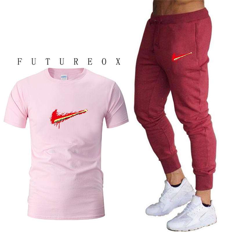 2019 new mens genuine sportswear short-sleeved T-shirt + pants running jogging casual sports suit fitness sportswear2019 new mens genuine sportswear short-sleeved T-shirt + pants running jogging casual sports suit fitness sportswear