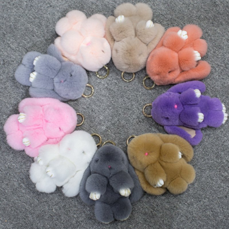 Premium Quality Super Soft Fluffy Adorable Plush Rabbit Stuffed Bunny Animal Small Pendant Hanging Toy 13cm
