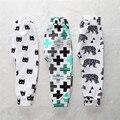 Высокое качество детские хлопчатобумажные брюки bebe девочка мальчик детские брюки gorros fox Брюки panda Малышей Младенческой детской одежды Для 4-24 М