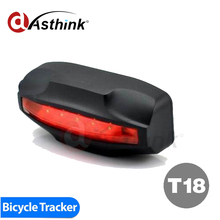 T18 2000mAh bicycle GPS Tracker Waterproof IP7 motion enabled LED Taillingt bike gps trackers GPS Tail