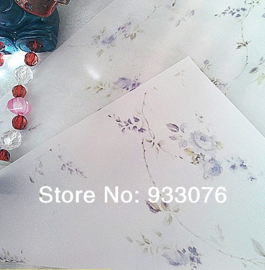 73g Greaseproof paper Elegent Purple Flower Half A4 size Hand Made Soap wrapping wax paper free shipping